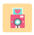 love camera flat icon vector image