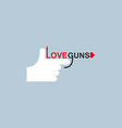 Love gun logo hand and arms vector image vector image