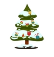 Merry Christmas greeting card Winter holiday