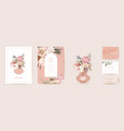 modern minimal art deco wedding invitation vector image vector image