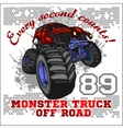 Monster Truck - off road badge vector image vector image