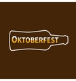 Oktoberfest Beer bottle Lined icon Flat design vector image