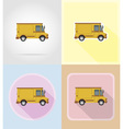 old retro transport flat icons 14 vector image