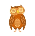 Owl Relaxed Cartoon Wild Animal With Closed Eyes vector image vector image