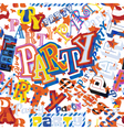 Party seamless tile vector image vector image
