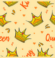 pattern style crown theme collection vector image vector image