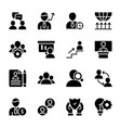 personal quality employee management solid icons vector image vector image