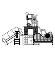 pile furniture vector image vector image