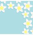 plumeria frangipani tropical flower icon set