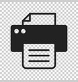 printer icon on isolated transparent background vector image vector image