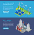 renewable resources and traditional energy power vector image