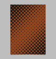Retro halftone dot background pattern brochure