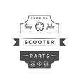 retro scooter shop vector image