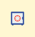 safe icon flat element of vector image vector image