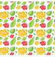 seamless background design with yellow and red vector image vector image
