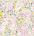 seamless pattern with flowers branch leaves vector image vector image