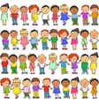 Seamless pattern with kids on it vector image