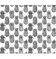 Seamless pattern with ornate pineapple vector image