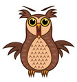 set isolated emoji character cartoon joy owl vector image vector image