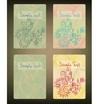 Set of doodle cards vector image vector image