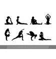 set yoga poses vector image vector image