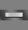shiny steel plate with rivets on metal perforated vector image