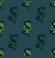 skull and snake seamless pattern vector image