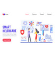 smart healthcare landing page template vector image vector image