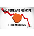 so tom and prncipe map financial crisis economic vector image
