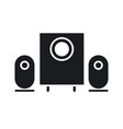 sound system icon vector image