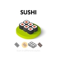 Sushi icon in different style vector image vector image