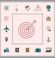 target goal line icon elements for your design vector image vector image