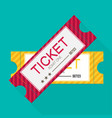 tickets icon flat design vector image vector image