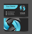 turquoise business card with sticker office vector image