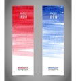 Two templates of watercolor banners for design vector image vector image