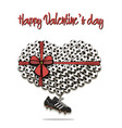 valentines day and heart from soccer balls vector image vector image