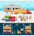 warehouse infographic elements flat design vector image vector image