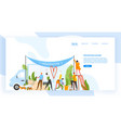 website template with group men and women