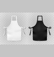 white and black kitchen chef apron isolated on vector image vector image
