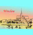 wroclaw vector image