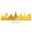 yangon city skyline golden silhouette vector image vector image