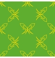 Yellow butterflies geometric seamless pattern