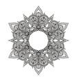 Zentangle stylized Round Indian Mandala Hand drawn vector image vector image