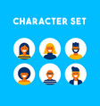 people group character icon set modern design vector image