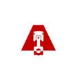 a letter automotive logo icon design vector image