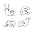 A set of cute little snails vector image vector image