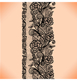 Abstract seamless lace pattern with flowers vector image vector image
