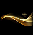abstract shiny color gold wave design element vector image vector image