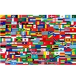 all flags of countries in one vector image