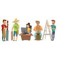 artists freelance creative people cartoon set